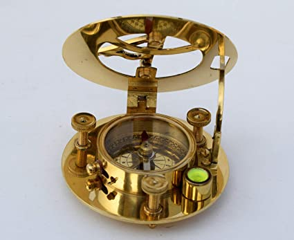 Maritime Compasses Maritime Solid Brass 3 Inch Sundial Compass Reproduction Classic Nautical