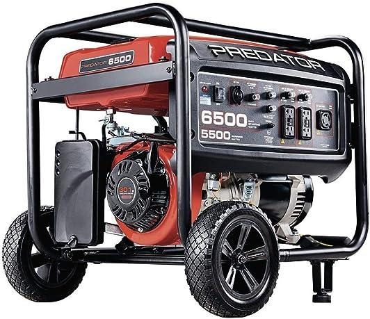 Predator Portable Generator 6500 Peak 5500 Running Watts And Generator Wheel Kit