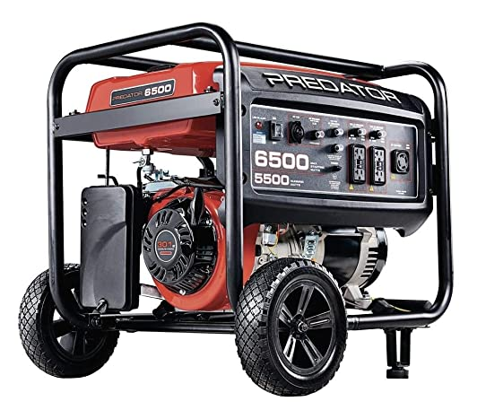 Predator Portable Generator 6500 Peak 5500 Running Watts And Generator Wheel Kit