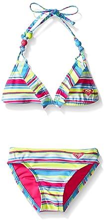 Roxy Girls Island Tiles Ruffle Bandeau Set