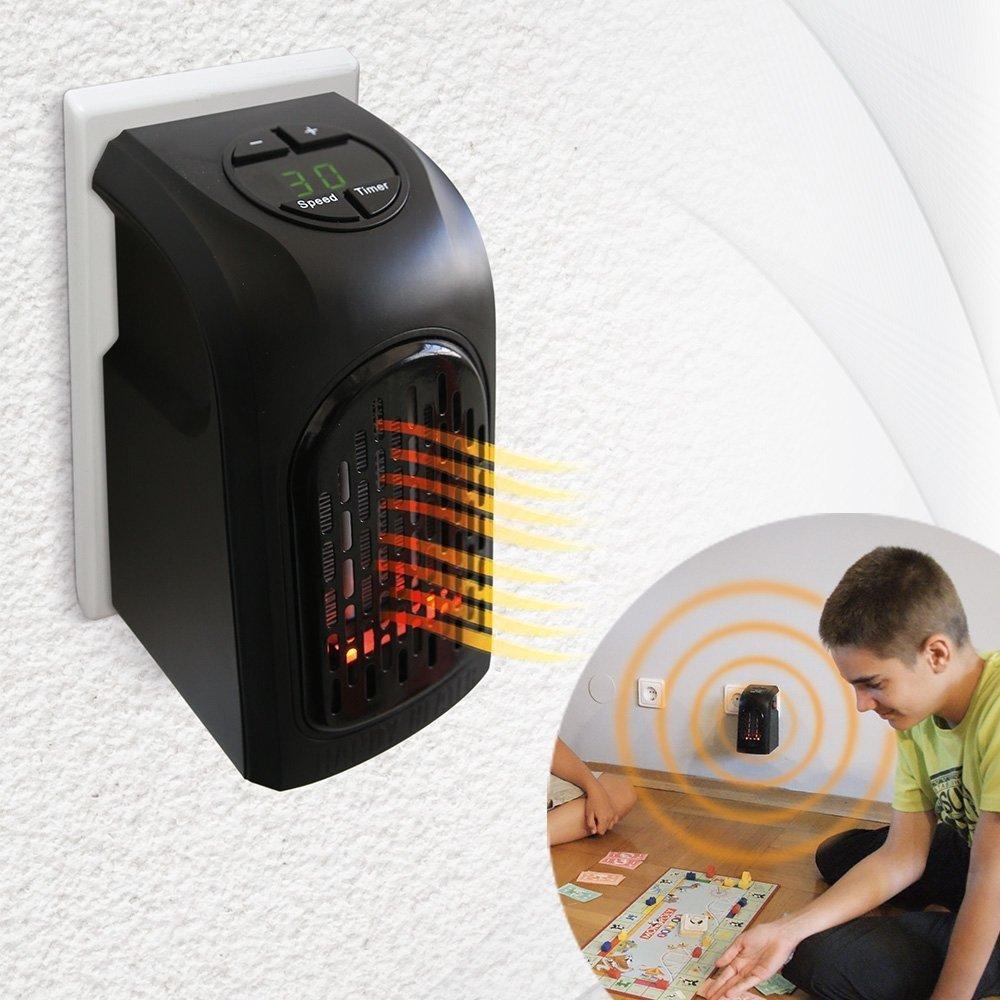 Mini estufa eléctrica portátil y ajustable de bajo consumo - La calefacción indispensable y potente, y el calefactor para cada habitación de tu casa: ...
