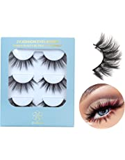 93a8482cd4 DYSILK 3D Eyelashes Mink Natural Look False Eyelashes Wispy Extension  Makeup Long Handmade Fake Eyelashes Fluffy
