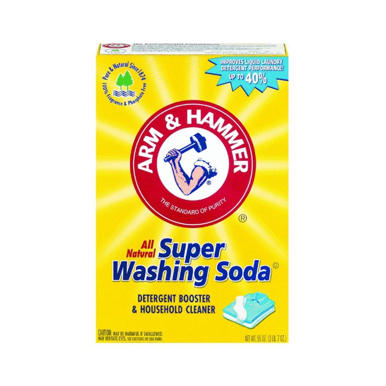 Church & Dwight Co 03020 Arm & Hammer Super Washing Soda 55 oz.-Super Pack-Pack of 4