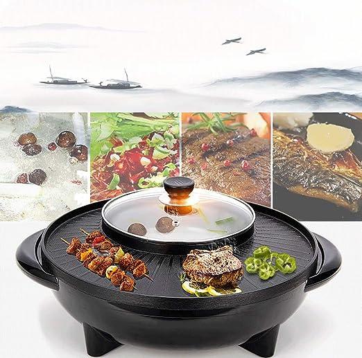 Korean BBQ Barbacoa Hot Pot Pot Doble, Integrado Olla a, Molde de ...
