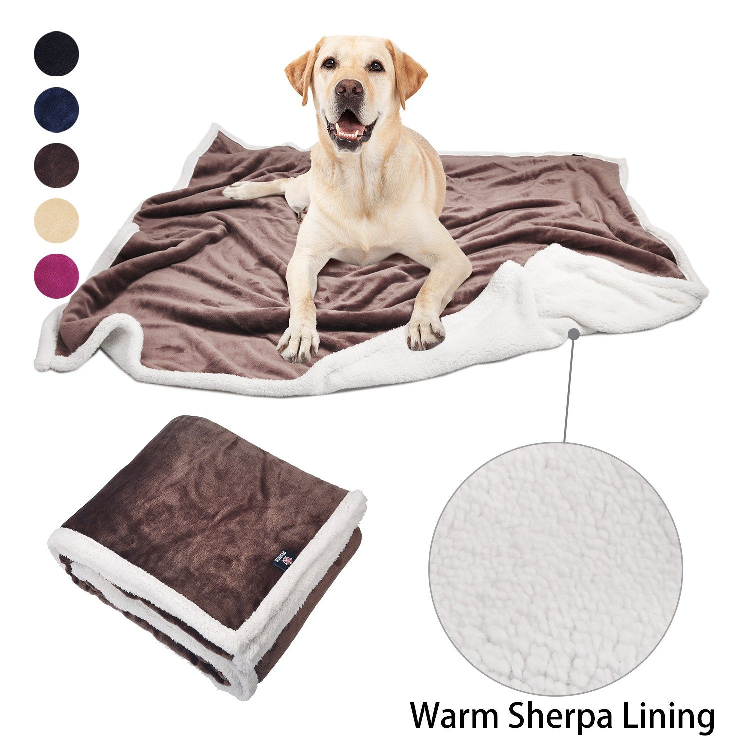 Pawsse Dog Puppy Blanket, Super Soft Warm Micro Fleece Plush Sherpa Pet Cat Throws Blanket Snuggle Cushion Mat for Small Animals 60x49