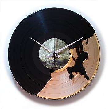 DiscOClock - Reloj de vinilo para pared, estilo vintage, idea