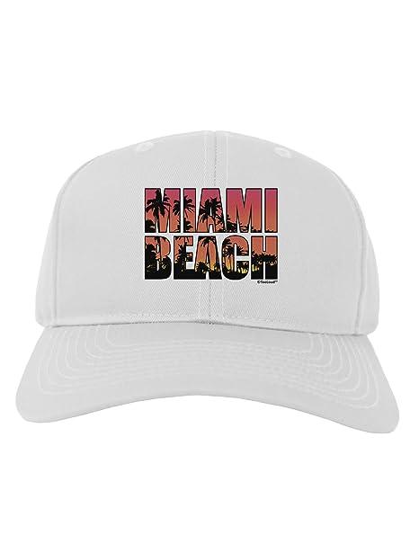 38868f3aad7 Amazon.com  TooLoud Miami Beach - Sunset Palm Trees Adult Baseball ...