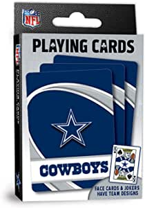 """MasterPieces NFL Dallas Cowboys Playing Cards,Blue,4"""" X 0.75"""" X 2.625"""""""