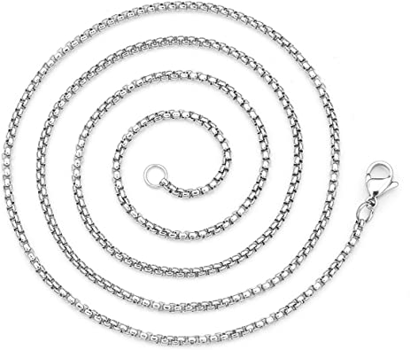 Pendant Chain Stainless Steel 71 mm long /& 2mm thick