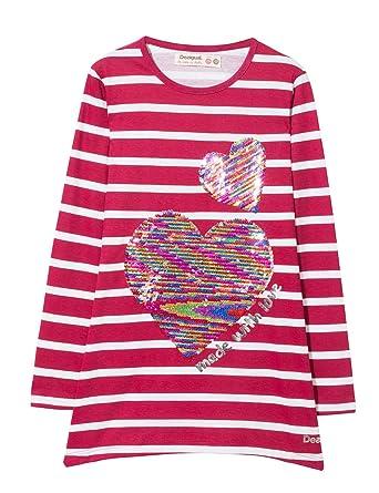 68e1cd6d9be25 Desigual TS chivite T-Shirt Fille  Amazon.fr  Vêtements et accessoires