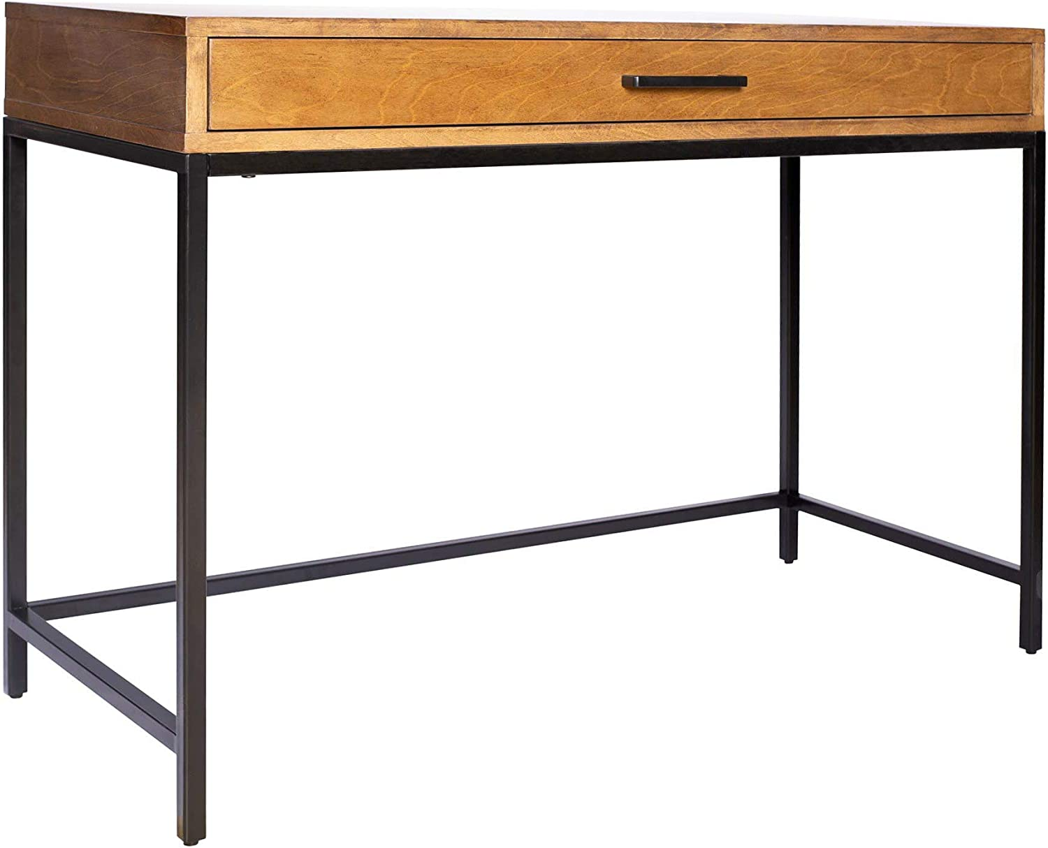 Amazon Brand – Rivet Avery Industrial Home Office Writing Desk with Metal Base, 40