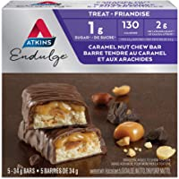 Atkins Endulge Bars, Caramel Nut Chew, 5 Count