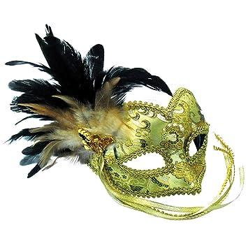 Amazon.com: Oro Eye Mask on Headband con trenzado Ojo Patrón ...