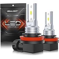 $22 » SEALIGHT H11 LED Fog Lights 4800lm, H16 H8 H9 LED Fog Bulbs Lamps High Power 12 CSP…