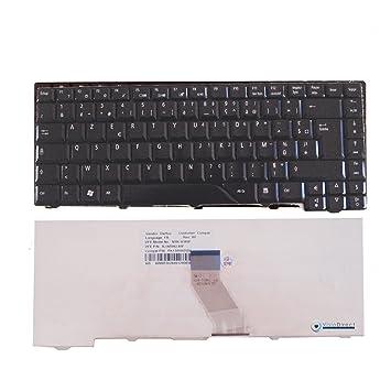 Teclado Azerty Francés color blanco para ordenador portátil ACER Aspire 4720 Series: Amazon.es: Informática