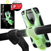 Bike Phone Holder for Smartphones, Won't Break or Rust, Patented & Design Award Winning Universal Bicycle Phone Mount, Compatible with Road & Mountain Bikes, and also Motorbikes & Scooters