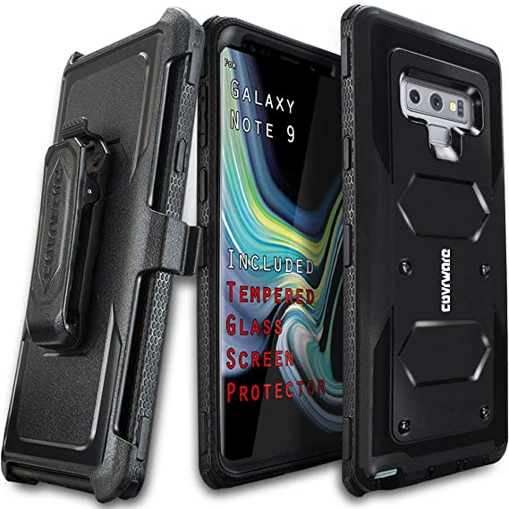 Samsung Galaxy Note 9 Case, COVRWARE [Aegis Series] + [Tempered Glass Screen