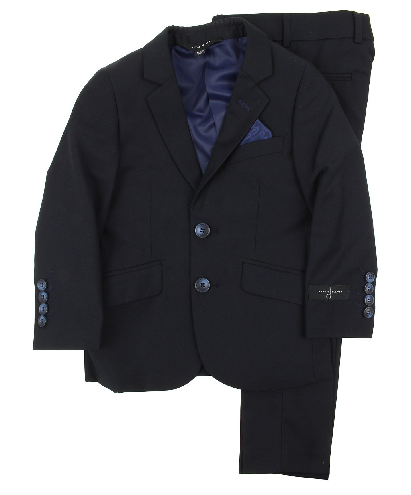 DAVID OLIVER Boys Slim Fit Suit (navy, 12)