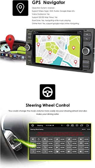 X AUTOHAUX 0.01 Thickness Car PET GPS Navigation Screen Protector for Ford Sharp 2019-2020