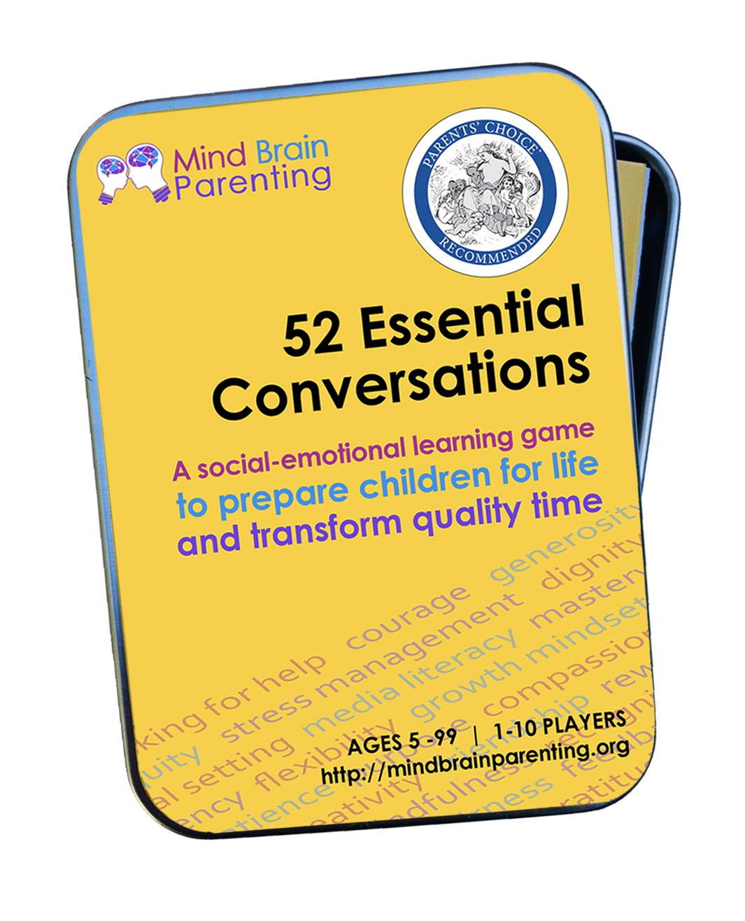 Growth Mindset /& Vocabulary Skills Builds Social Emotional Created by Harvard Educators Mind Brain Parenting 52 Essential Conversations: The Life Skills Card Game for Age 5 to Adults Critical Thinking