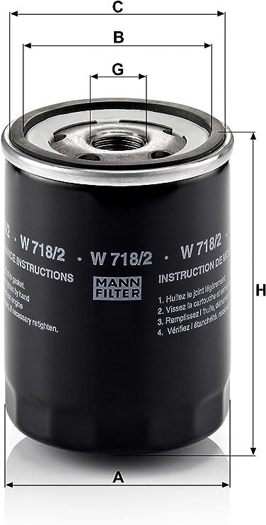 Original Mann Filter W 718 2 Schmierölwechselfilter Für Pkw Auto