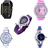 Maan International Analogue Multicolor Dial Women's Combo Of 5 Watch (M-Horsh-5 Combo')