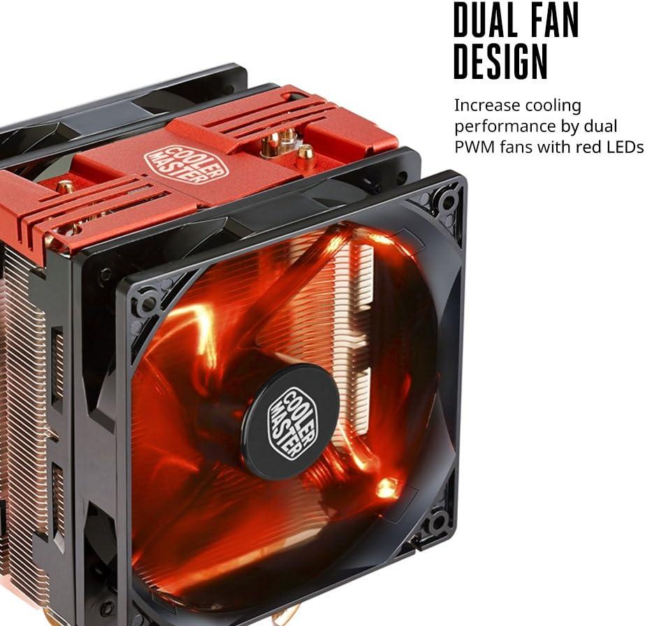 Cooler Master RR-212L-16PR-R1 Hyper 212 LED CPU Cooler Red LEDs