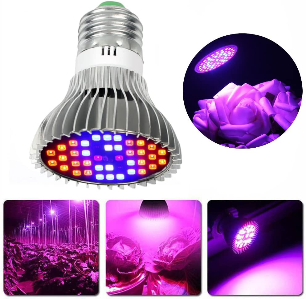 Hangang LED Grow Light Bulb Full Spectrum LED Grow Light Bulb Planta Che Cresce Lámpara para Plantas de Interior Marihuana Hydroponics Planta Ondas y Invernadero (30 W)