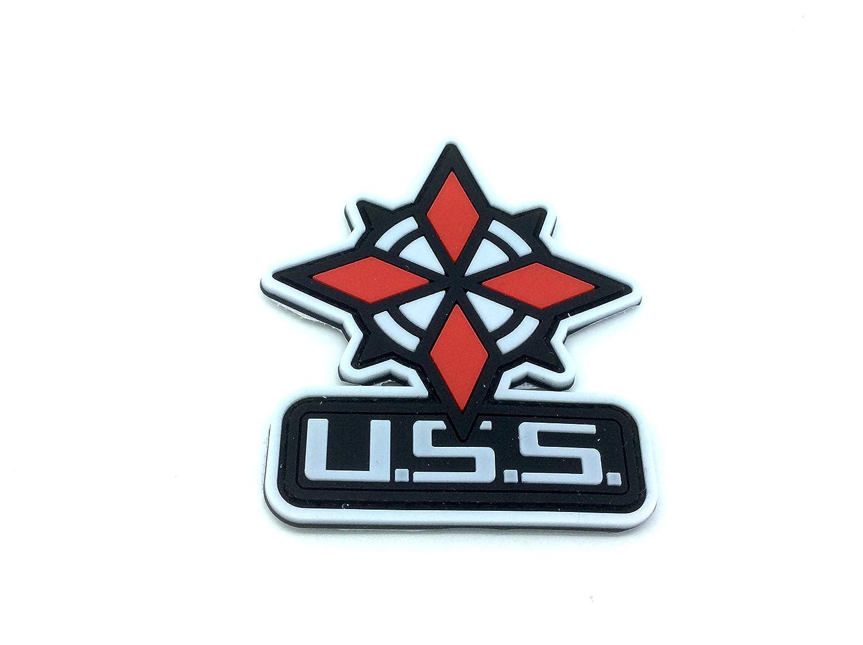 Paraguas Servicio de seguridad USS Color Blanco Resident Evil Velcro PVC Parche Patch Nation