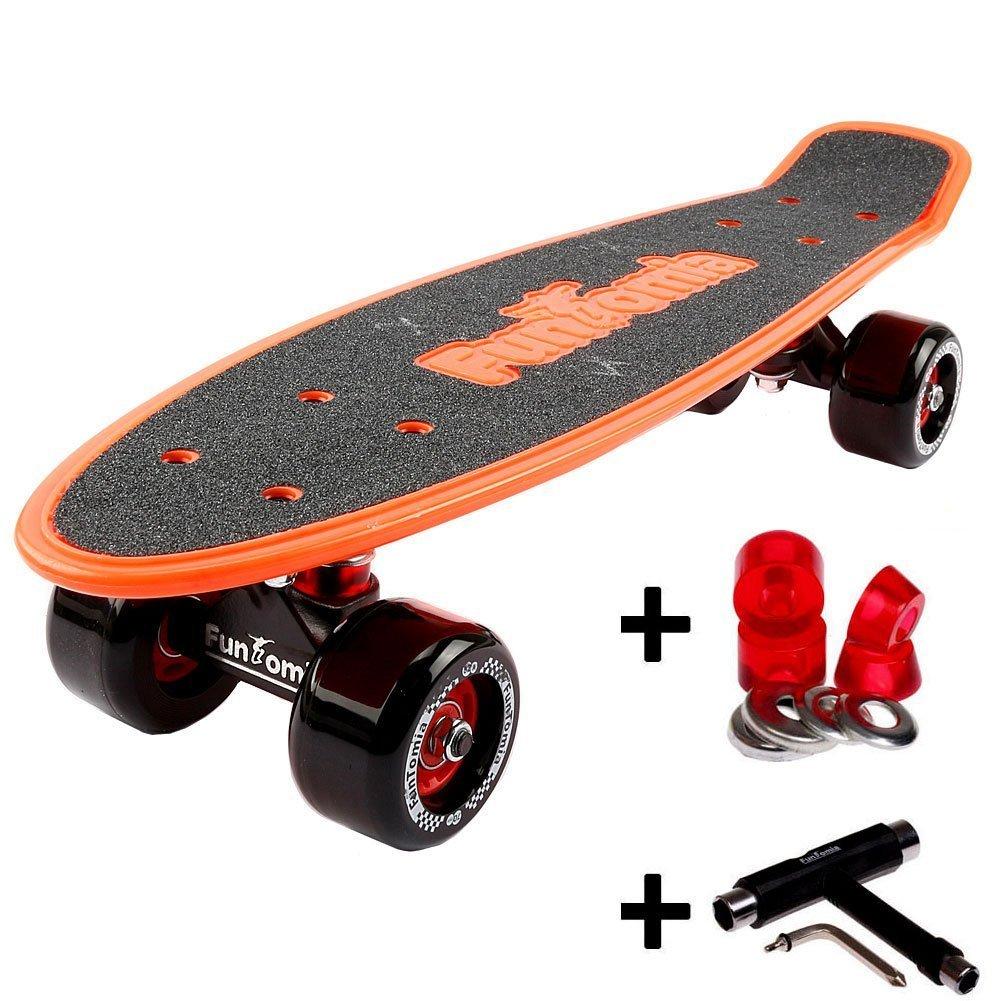 orange mit Rollen ohne LED + T-Tool + weichen Lenkgummis