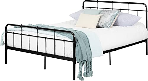 South Shore Gravity Metal Platform Bed, Queen, Black