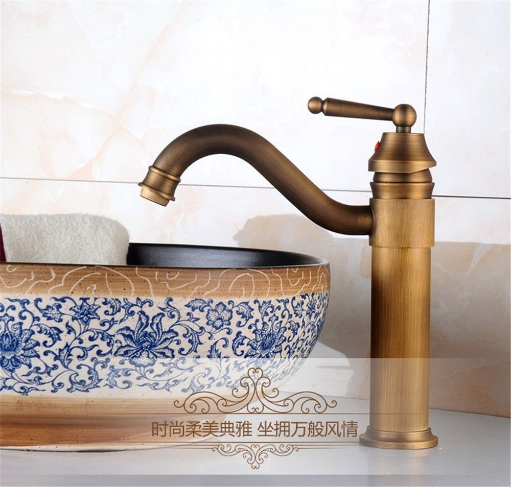 Lalaky Taps Faucet Kitchen Mixer Sink Waterfall Bathroom Mixer Basin Mixer Tap for Kitchen Bathroom and Washroom Retro Single Hot and Cold