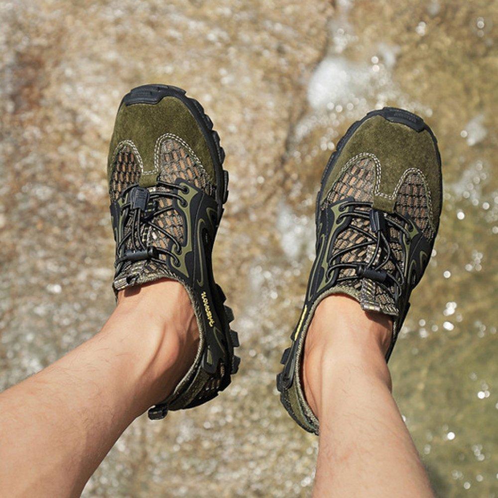 HGDR  Herren Mesh Trainer Lace up up Lace Leichte Outdoor Trekking Wanderschuhe Casual Anti-Rutsch-Turnschuhe Wasser Schuhe ee685a