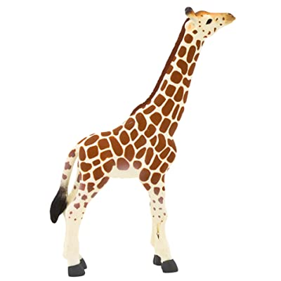 MOJO Giraffe Calf Realistic International Wildlife Toy Replica hand painted figurine: Toys & Games