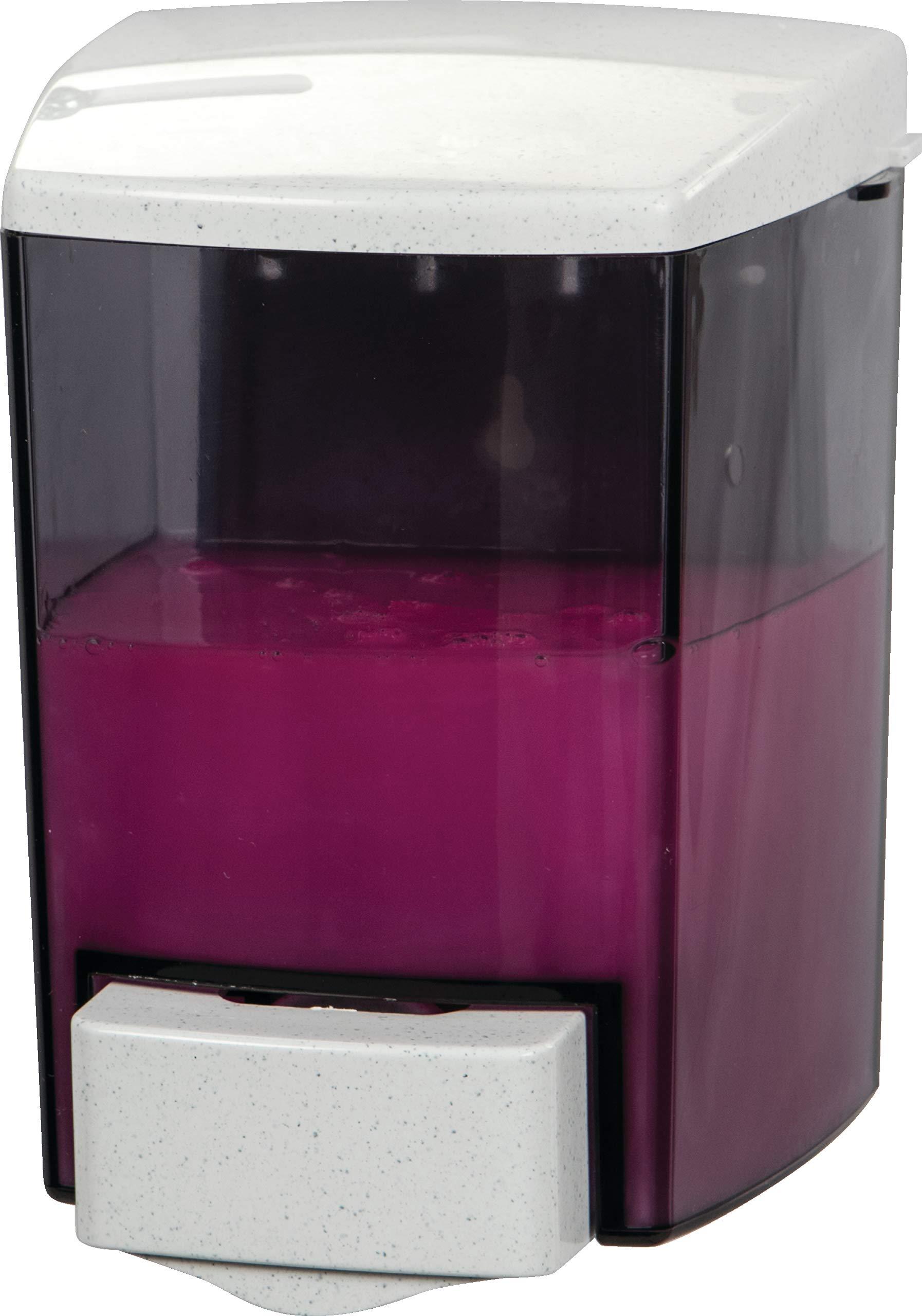 San Jamar S30TBK Bulk Liquid/Lotion Soap & Hand Sanitizer Dispenser, 30 oz. Capacity, Black by San Jamar