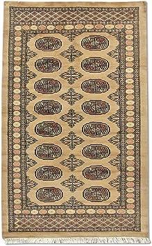 Traditional Persian Handmade Bokhara Rug Wool Tan 3 1 X 4 11 Ft Furniture Decor
