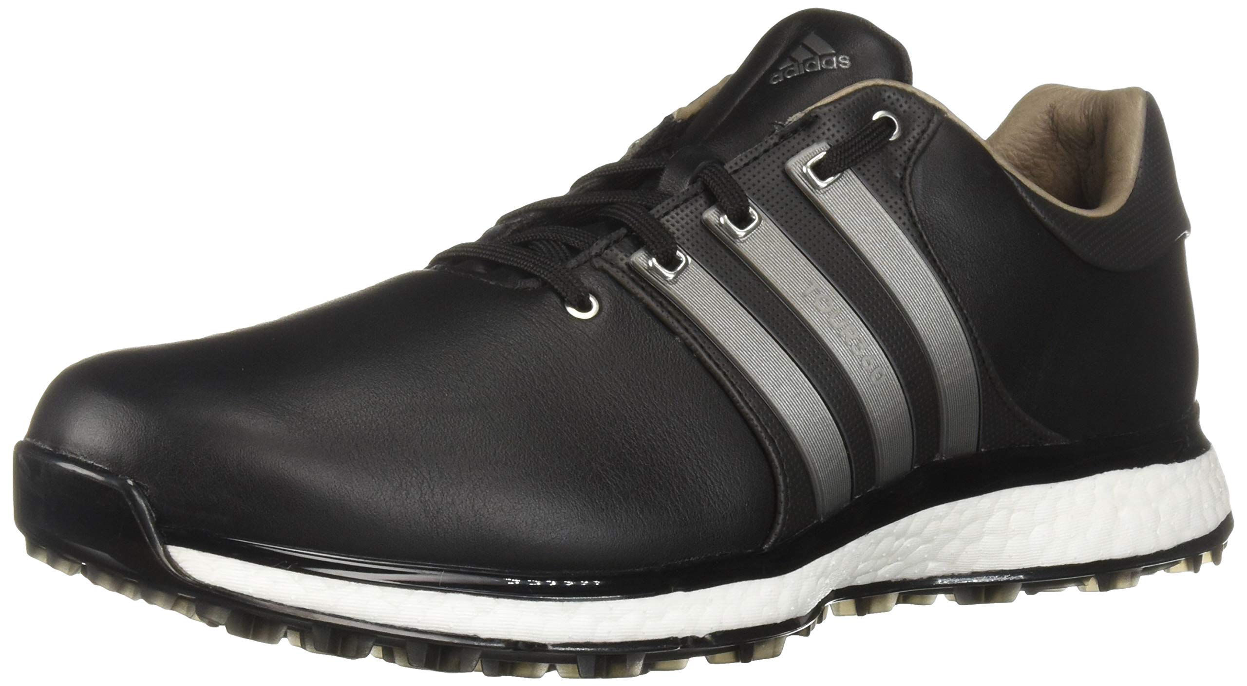 adidas Men's TOUR360 XT Spikeless Golf Shoe core Black/Iron Silver Metallic, 7 M US