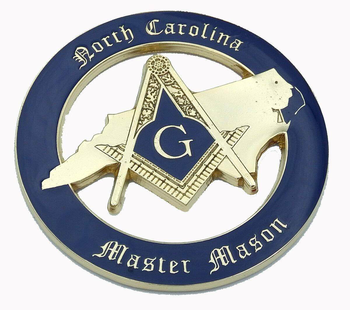 Aplique North Carolina Master Mason Masonic 3 3D MAS40