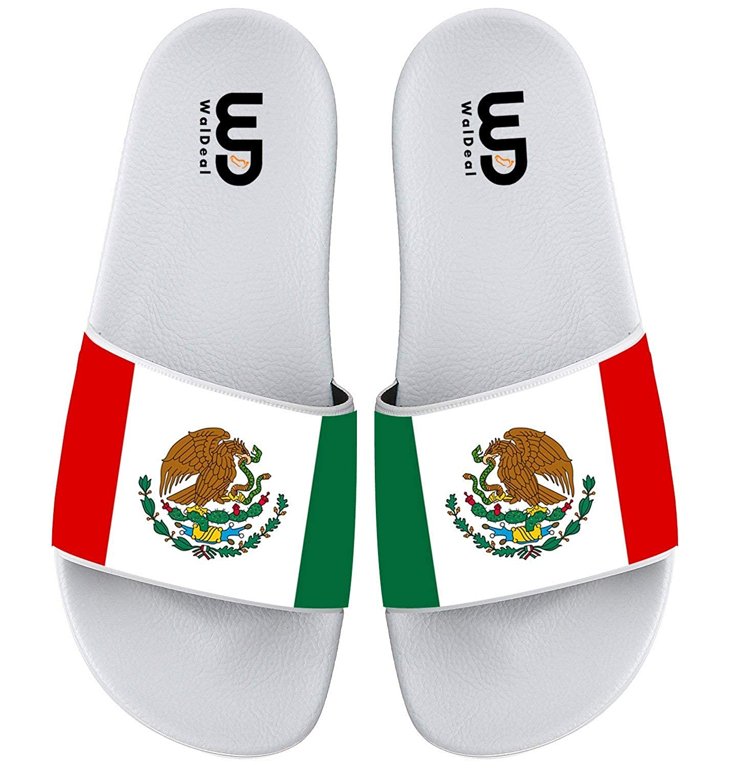 Flag of Mexico Eagle Summer Slide Slippers For Men Women Kid Indoor Outdoor Open-Toe Beach Sandal Shoes