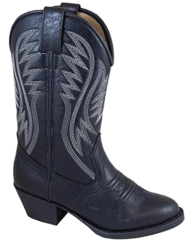 ca59c36e210 Smoky Mountain Girls' Mesquite Western Boot Round Toe Black 5.5 D