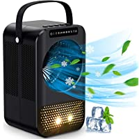 Portable Air Conditioner Fan, Mini Personal Air Cooler, Evaporative Ice Cooling Fan with 3 Speeds 7 Colors, Super Quiet…