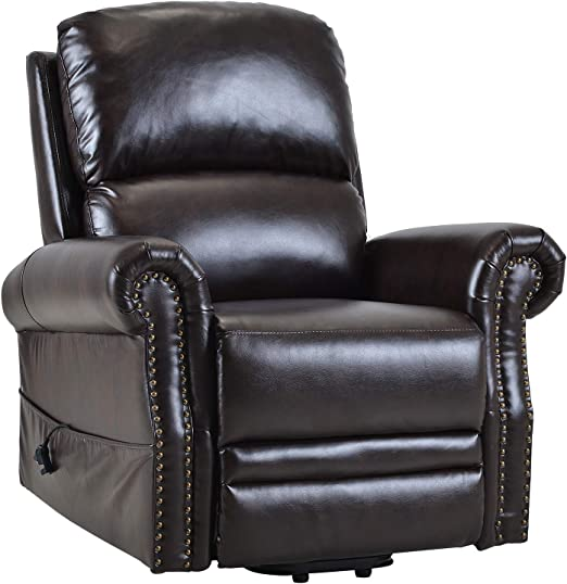 Brown Lift Chair Recliner Infinite Position,JULYOFX Faux Leather Electric Lift Recliner Sofa Chair 330 LB Heavy Duty Lifts You Up W 2 Button Easy