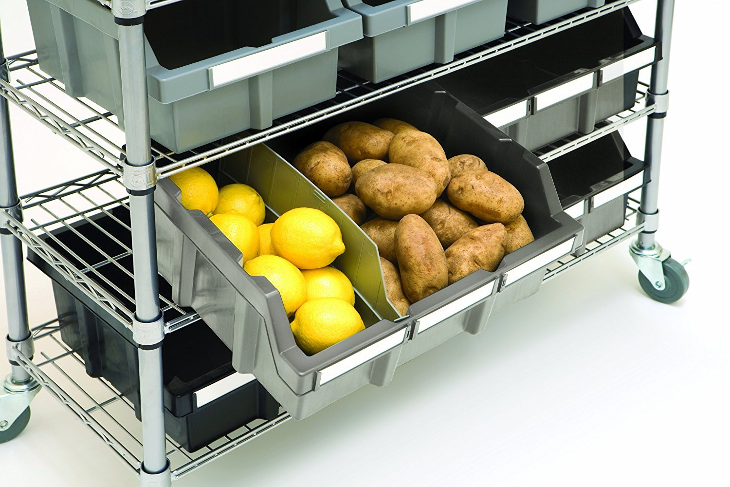 Seville Classics Commercial 7-Tier Platinum/Gray NSF 16-Bin Rack Storage System by Seville Classics (Image #7)