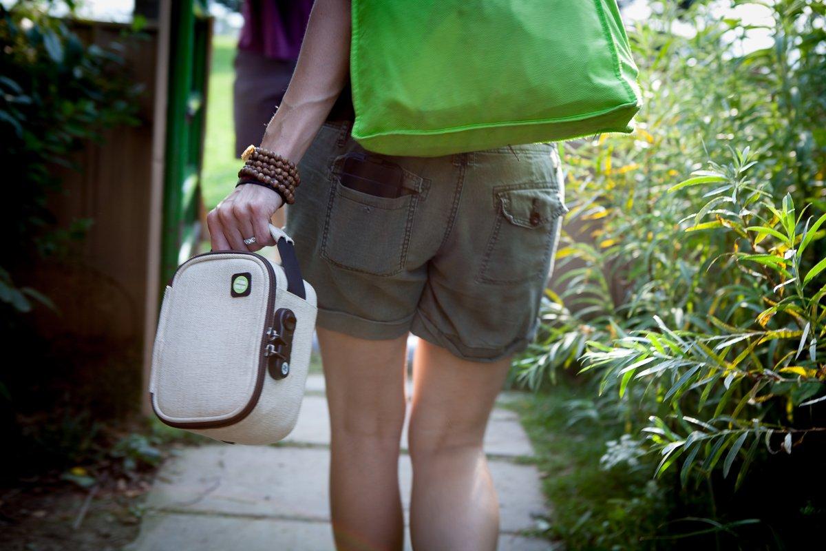 ESH Locking Stash Bag with Odor Control STASHLOGIX EcoStash Medium, Hemp