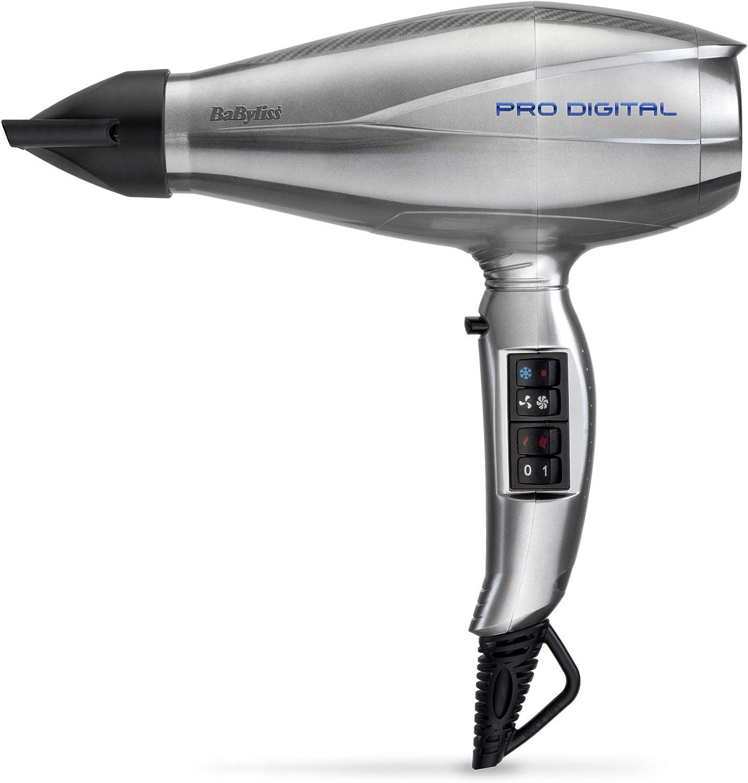 BaByliss Pro Sèche cheveux Digital 2200 avec Technologie Ionique et Céramique Fabriqué en Italie