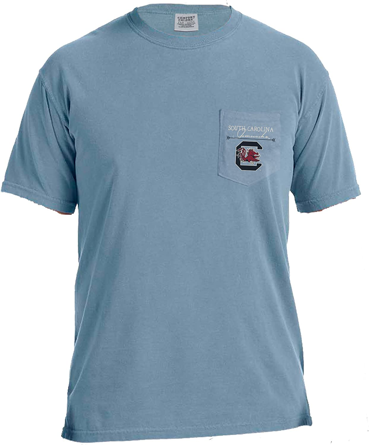 NCAA Adventures Short Sleeve Comfort Color Pocket Tee