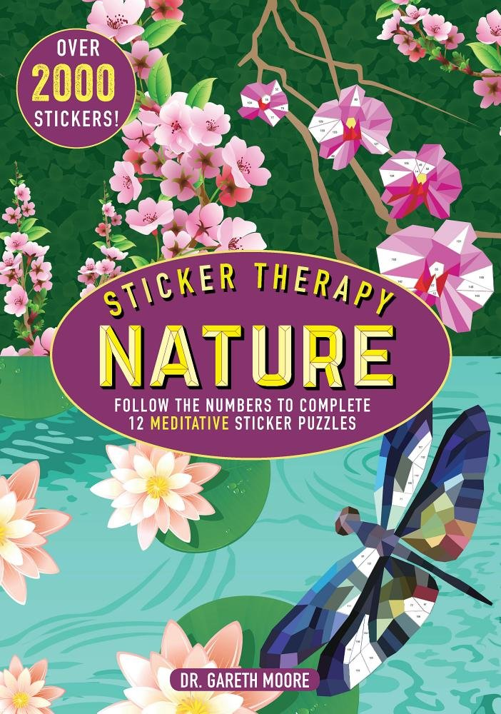 Download Sticker Therapy Nature: Follow the Numbers to Complete 12 Meditative Sticker Puzzles PDF