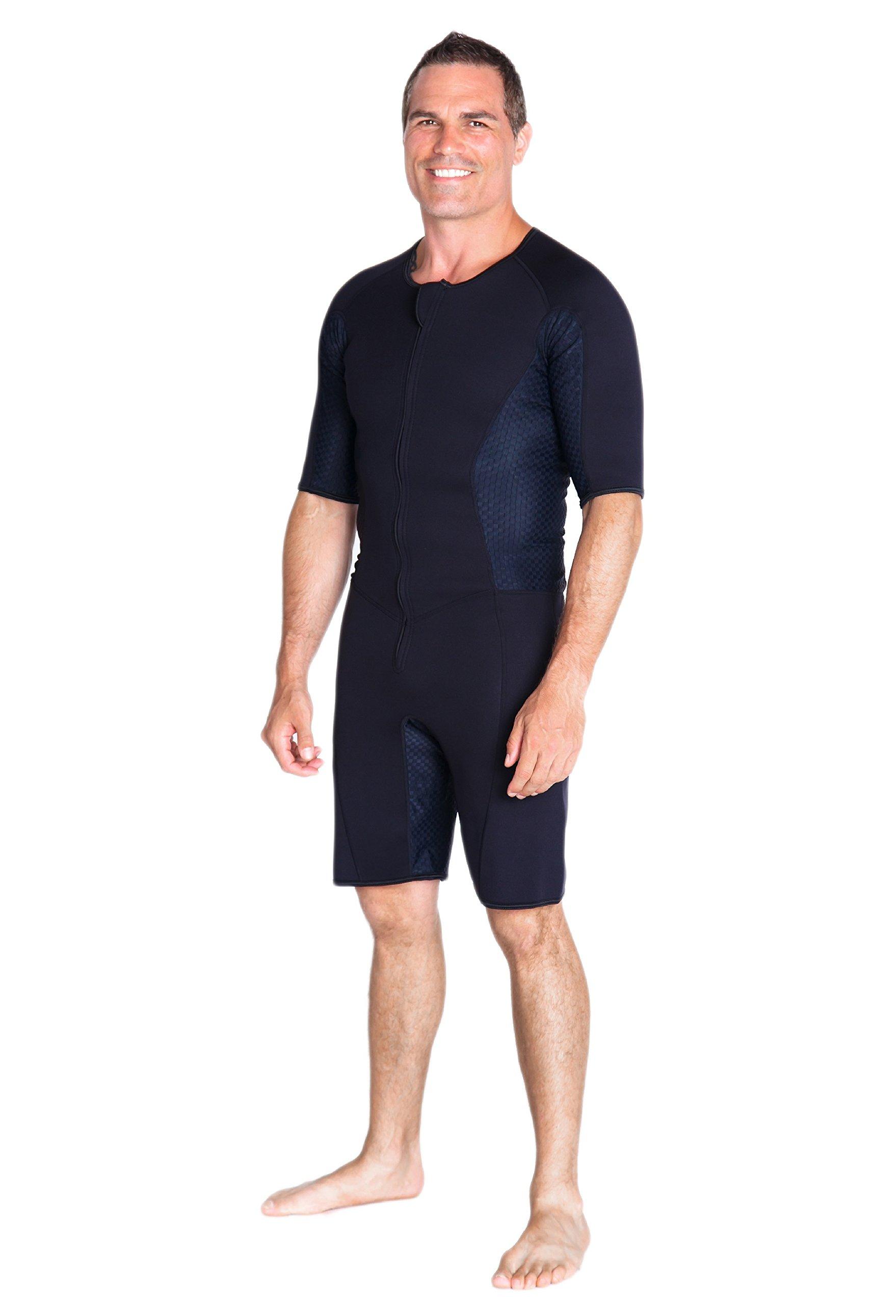 Kutting Weight Neoprene Weight Loss Men's & Women's Sauna Suit (Black, XL) by Kutting Weight (Image #2)