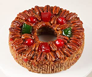 DeLuxe Fruitcake 1 lb. 14 oz. Gourmet Food Gifts, Christmas Gifts, Holiday Gifts, Thanksgiving, Birthday for Men and Women, Corporate Gifts