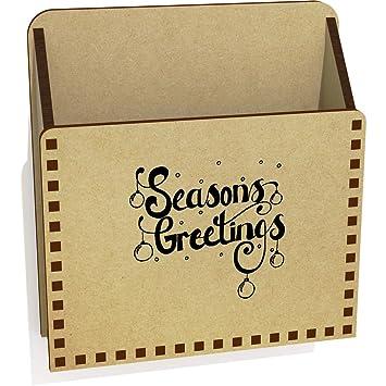 Season\'s Greetings\' Wooden Letter Holder / Box (LH00002531): Amazon ...